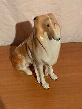 Vintage Russian Ceramic Collie Dog Lomonosov Made in USSR