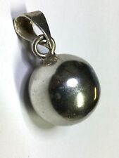 Vintage Taxco Mexico Jingle Bell Ball Sterling Silver 925 Charm Pendant