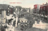 Peotone Illinois~Crowded Second Street Business~Covered Buggies~Met Friends~1910