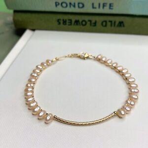 Fresh Water Pearl 14K Gold Filled Handmade Sundance Garden Bracelet