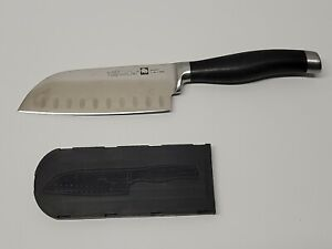 "PAMPERED CHEF Forged Cutlery 5""  Santoku  Knife with Cover"