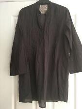 WOMENS, SEAFOLLY, BEACH/POOL/HOLIDAY, LONG COTTON TOP, DARK GREY SIZE XS, #