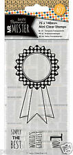 Docrafts Papermania clear mini rubber stamps Rosette Mr Mister 75x140mm Men Man