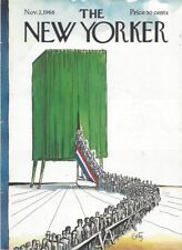 COVER ONLY ~The New Yorker magazine ~ November 2 1968 ~ GETZ ~ Election voting