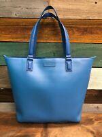 NEW Vera Bradley Composition Tote Coastal Blue Faux Leather