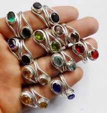 HOT FASHON WOMEN  WHOLESALE LOT 10PCS 925 STERLING! SILVER OVERLAY RING
