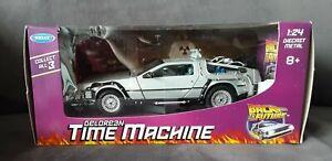Back to the Future DeLorean 3 car set 1:24 scale new boxed diecast
