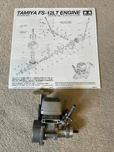 Tamiya FS-12 Glow Engine Plus Manual RARE (TGS TG10 TGR TGX)