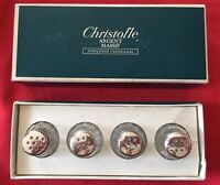 CHRISTOFLE FRANCE Argent Sterling Silver & Crystal Salt & Pepper Shakers Cellars