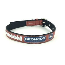 "Nfl Gamewear Leather Football Dog Collar For Large Dogs 28"" Adjustable New"