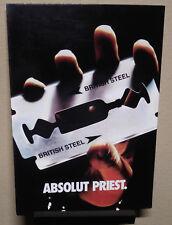 SUPER-RARE! JUDAS PRIEST / Absolut Vodka Promo Postcard!  Iron Maiden  KISS