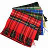 Mens Royal Stewart SCOTLAND 100% CASHMERE Scarf Winter Scarves Check Plaid Wool