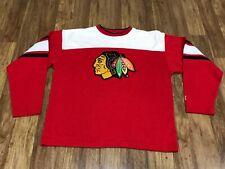 MENS LARGE - Vtg 90s NHL Chicago Blackhawks Starter Sewn Jersey
