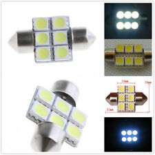 4 x White 31MM 5050 6SMD Festoon Dome Interior LED Light Bulbs DE3175 3021 6428