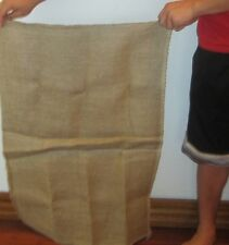 "2 NEW BURLAP SACKS 23"" X 36"" GUNNY FEED BAG JUTE TOW SACK BAGS"