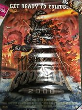 GODZILLA GET READY TO CRUMBLE MOVIE POSTER POOR CONDITION