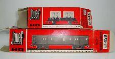 Boite Vide JOUEF x 2 Fourgon Bagage ref 459 & Wagon Containers 645 Etat Moyen