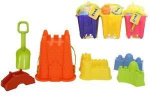 7pc Bucket and Spade Set Beach Garden Sandpit Toys Kids Sand Castle Summer Gift