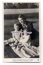 r1500 - Duchess of Kent with Prince Edward & Princess Alexandra - postcard