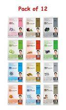 Dermal Korea Collagen Essence Full Face Facial Mask Sheet ( Pack of 12 )