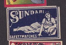 Ancienne étiquette allumettes Inde  BN19081 Sundari Femme