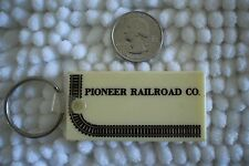 Pioneer Railroad Co Vintage Train Tracks Keychain Key Ring #23648
