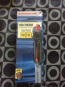 MARINELAND Visi-Therm 100 Watt Submersible Aquarium Heater FREE SHIPPING USA