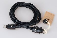 LETHAUS - ROPE CAMERA STRAP WITH LEATHER CONNECTOR - (BLACK / BLACK)