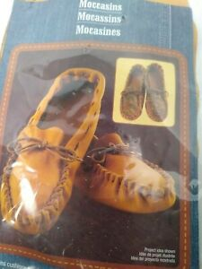 ArtMinds Crafts Leather Moccasin Kit mens size 10 11 Medium shoe New