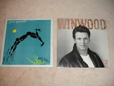 Lot of 2 Steve Winwood LP Record Albums-Arc Of A Diver + Roll With It