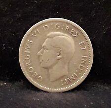 1944 Canada (Dominion) silver 10 cents, George VI, KM-34                    /N59