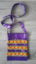 Handmade silk/cotton/embroidered shopping shoulder bag.