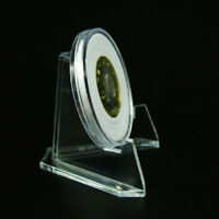 AU_1pcs Clear Acrylic Medals Coins Display Stand Easel Show Holder Exhibit Mount