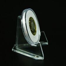 Mini Transparente Moneda Minerales Placas Tarjetas Chapa Expositor Atril Soporte