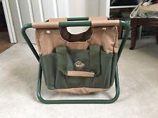 Esschert Design Garden Tool Bag and Stool Outdoor Patio Storage Seat