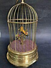 Antique German Karl Griesbaum Singing Bird Cage Automaton Music Box~Sings Great