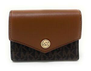Michael Kors Jet Set Travel Medium Flap Bifold Wallet Credit Card Holder