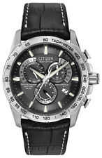 Citizen Eco-Drive Men's AT4000-02E Chronograph A-T Black Dial Strap 42mm Watch