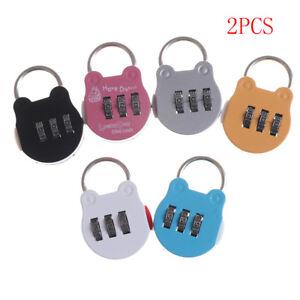 2pcs Cartoon Mini Digital Briefcase Password Padlock Luggage Gym Lock sp RSDNMO