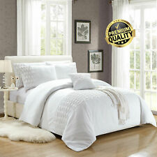 White Wrinkled Duvet Cover Bedding Sets With Pillow Cases King Size Quilt Covers