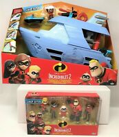 Incredibles 2 Junior Supers HydroLiner Deluxe Playset and Family Figure Pack Toy