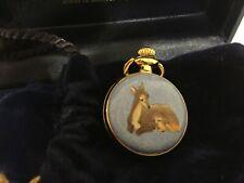 Halcyon Days Bambi Deer Disney Small Pocket Watch Nib