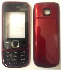 NUOVO!! Rosso Alloggiamento / Fascia / Coperchio / Custodia per Nokia 2700C / 2700 Classic