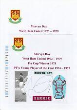 MERVYN DAY WEST HAM UNITED 1973-1979 ORIGINAL HAND SIGNED CUTTING/CARD