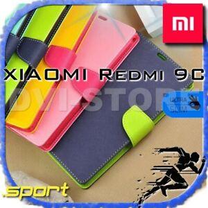 COVER per Xiaomi Redmi 9C Custodia 360° SPORTIVA Libro Portafoglio Magnetica