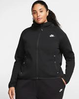 NEW Women's Nike Plus Size Sportswear Tech Fleece Full-Zip Cape Hoodie Size 1X