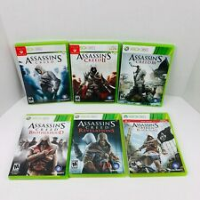 Assassins Creed 1 2 3 Brotherhood Revelations Black Flag Xbox 360 Lot Of 6