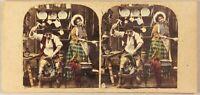 Scène de genre Artistique Cordonnier Photo Stereo Vintage Albumine ca 1860