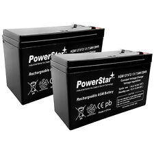 (2) PowerStar 12V 7.5AH CA1270 Scooter Bike Battery Replaces 7Ah Yeuyang 6-DW-7