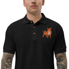 Bullish Bitcoin Embroidered Polo Shirt - BTC Bull